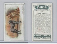 W62-128 Wills Tobacco, Dogs, 1937, #11 Great Danes