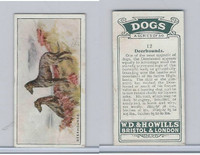 W62-128 Wills Tobacco, Dogs, 1937, #12 Deerhounds