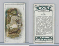 W62-128 Wills Tobacco, Dogs, 1937, #22 Poodle