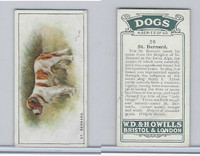 W62-128 Wills Tobacco, Dogs, 1937, #26 St. Bernard