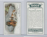 W62-128 Wills Tobacco, Dogs, 1937, #37 King Charles Spaniels