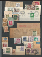 Germany Stamp Collection, Stockbook of SON Cancels, 6 Pages, DKZ