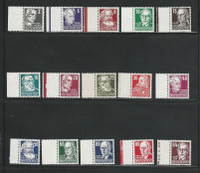 Germany DDR Postage Stamp, #122-136 VF Mint NH Set With Tabs, 1953, DKZ