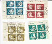 Germany DDR Postage Stamp, #B17-B20 Used Blocks, 1950, DKZ