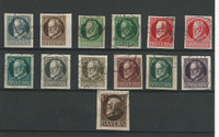 Bavaria Germany Postage Stamp, #117//130 Used Imperf, 1916-20, DKZ