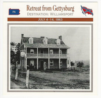1995 Atlas, Civil War Cards, #87.05 Retreat from Gettysburg
