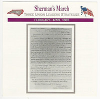 1995 Atlas, Civil War Cards, #87.08 Sherman's March
