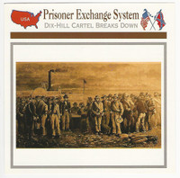 1995 Atlas, Civil War Cards, #87.14 Prisoner Exchange System, Fort Delaware