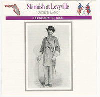 1995 Atlas, Civil War Cards, #95.07 Skirmish at Levyville