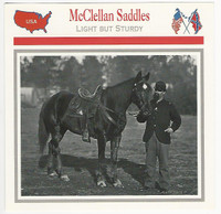 1995 Atlas, Civil War Cards, #95.08 McClellan Saddles, Horse