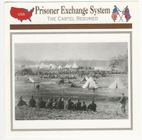 1995 Atlas, Civil War Cards, #95.12 Prisoner Exchange System