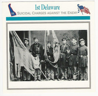 1995 Atlas, Civil War Cards, #95.15 1st Delaware
