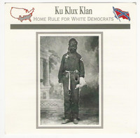 1995 Atlas, Civil War Cards, #95.19A Klan Member