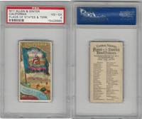 N11 Allen & Ginter, Flags of the States, 1888, California, PSA 4 VGEX