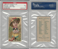 N74 Duke, Fishers and Fish, 1888, Mullet (Girl), PSA 5 EX