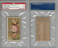 N185 Kimball, Dancing Girls of the World, 1889, Freesland, PSA 5 EX
