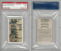 T121 Sweet Caporal, World War I Scenes, 1914, #223 Queen Spain, PSA 5 EX