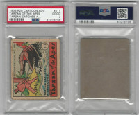 R28 Strip Card, Cartoon Adventures, 1936, #411 Tarzan of the Apes, PSA 2 Good