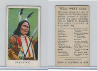 E50 Dockman, Wild West Gum, 1920's, Bear Foot (B)