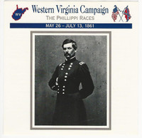 1995 Atlas, Civil War Cards, #96.03 Western Virginia Campaign, McClellan