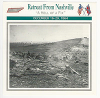 1995 Atlas, Civil War Cards, #97.06 Retreat From Nashville