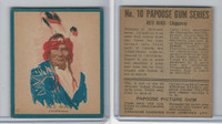V254 Canadian CG, Papoose Gum Indians, 1934, #10 Red Bird, Chippeway (B)