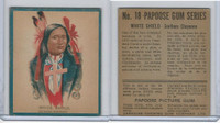 V254 Canadian CG, Papoose Gum Indians, 1934, #18 White Shield, (B)