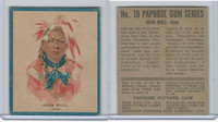 V254 Canadian CG, Papoose Gum Indians, 1934, #19 Iron Bull, Crow (B)