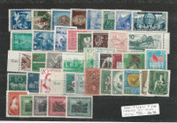 Germany DDR Stamp Collection, Mint Lot on Stock Page, 1952-59, DKZ