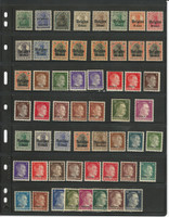 Germany Occupations Stamp Collection on Stock Page, World War I & II, DKZ