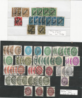 Germany Officials Stamp Collection on Stock Page, 1924-1933, DKZ