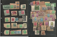 Germany Stamp Collection on 12 Stock Pages, On Piece Cancels, DKZ