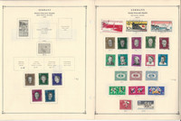 Germany DDR Semi Postal Stamp Collection on 10 Pages 1948-68, DKZ