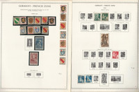 Germany French Zone WWII Stamp Collection on 7 Minkus Specialty Pages, DKZ