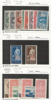 Italy - Aegean Islands, Postage Stamp, #19-26 Hinged, 57-65 Mint LH, JFZ
