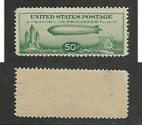 United States, Postage Stamp, #C18 Mint NH, 1933 Zeppelin, JFZ