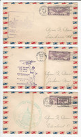 USA Flight Covers, 1931, Memphis, Birmingham, Washington DC, DKZ