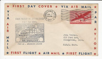 USA Flight Cover, 1941, Youngstown Ohio, Steel City, DKZ