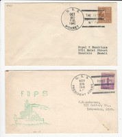 USA Ship Navy Covers, 1941, USS Hornet, President Adams, DKZ