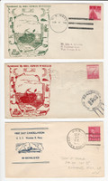USA Ship Navy Covers, 1943, USS Darter, Newman Perry, DKZ