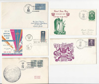 USA Ship Navy Covers, 1962, USS Midway, Amphion, Suffolk, LPH-3, DKZ
