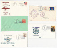 USA Ship Navy Covers, 1977, USS Cincinnati, Guam, Marion, Harlan Saipan , DKZ