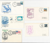 USA Ship Navy Covers, 1988, USS Vincennes, Texas, Tripoli, Tarawa, DKZ