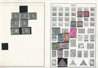 Malaya & Malaysia Stamp Collection on 24 Harris Album Pages