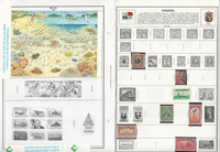 Palau, Panama, Papua Stamp Collection on 14 Harris Album Pages