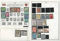 Peru & Philippines Stamp Collection on 18 Harris Album Pages