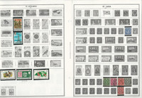 St. Helena, Lucia, Kitts, Vincent Stamp Collection on 24 Harris Album Pages