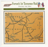 1995 Atlas, Civil War Cards, #103.04 Forrest's 1st Tennessee Raid