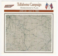 1995 Atlas, Civil War Cards, #103.05 Tullahoma Campaign