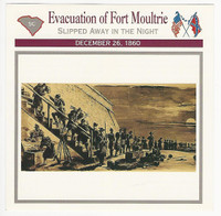 1995 Atlas, Civil War Cards, #113.01 Evacuation of Fort Moultrie